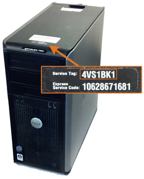 Dell Desktop Service Tag